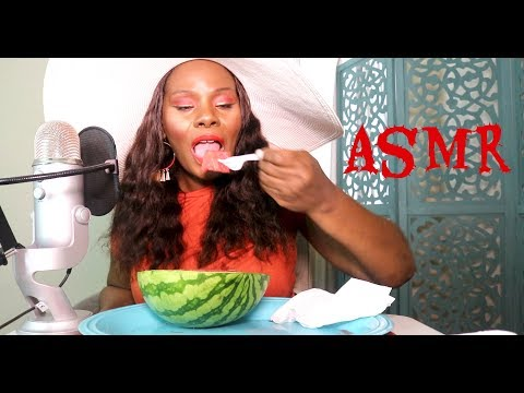 Found The Sweetest Watermelon ASMR Eating Sounds 🍉 Very Intense