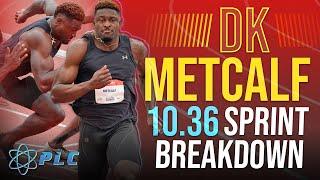DK Metcalf 10.36 100M Sprint Breakdown   Sprint Mechanics
