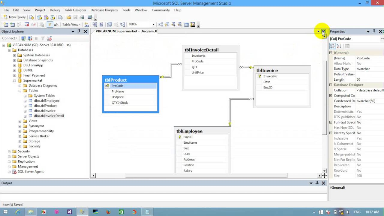 Create A Diagram with SQL server 2012  YouTube