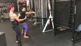 T2 Isotrainer Static Hold suspension training Cris Cyborg UFC 214 Marion Reneau
