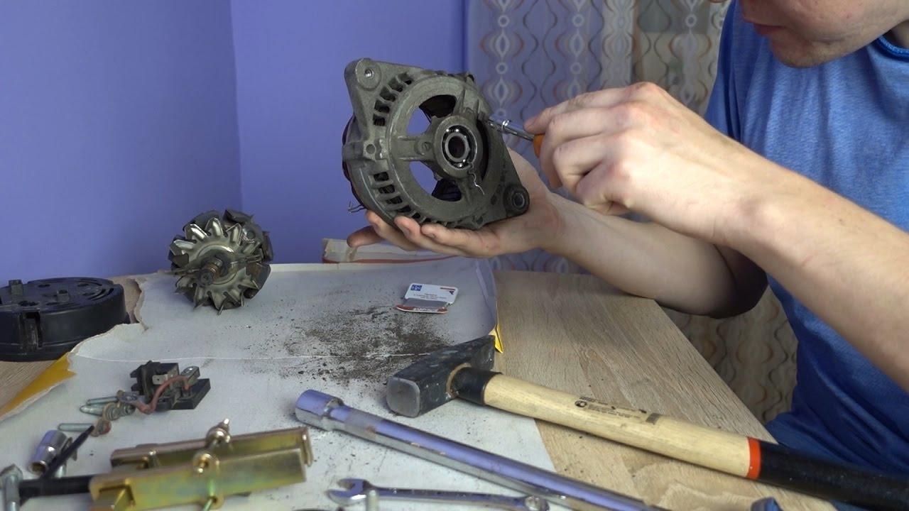Замена подшипников генератора ваз 2110 своими руками фото 17