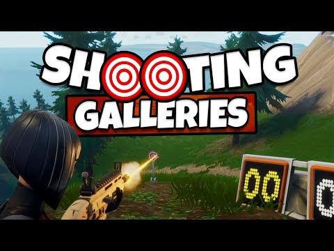 Fortnite: Shooting Gallery Locations, Season 6 Week 4