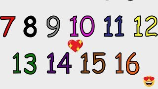 Learn numbers for toddlers | Learn numbers 11 – 20 | Learn coloring for toddlers