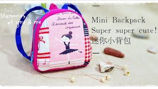How to make a mini backpack with zipper ~ 如何制作迷你小背包💟💟