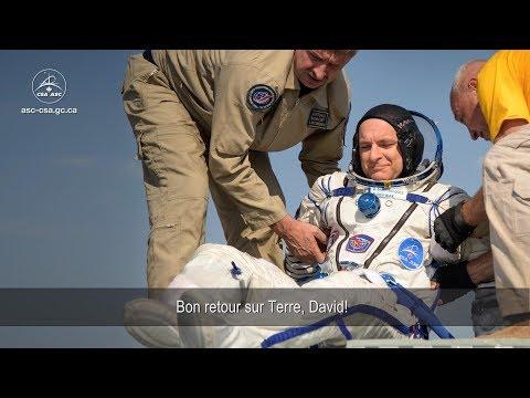 Retour Sur Terre De L'astronaute De L'Agence Spatiale Canadienne David Saint-Jacques