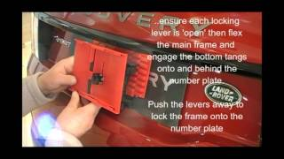 Tutorial - TPH-2 Trade Plate holder fiting to non standard number plates