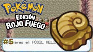 Pokemon Rojo Fuego capítulo 5:Manía por los fósiles