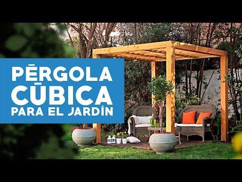 ¿Cómo construir una pérgola cúbica para el jardín?