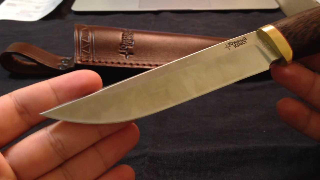 Обзор Ножа Южный Крест Боровой D2 Венге - YouTube