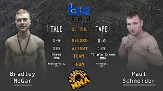 Hardrock MMA 96 Fight 4 Bradley McGar vs Paul Schneider 135 Ammy