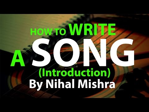 Tutorial Learn How To Write A Song