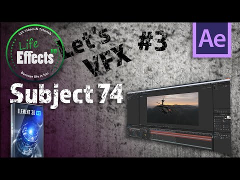 "How to use Element 3D group folders and expressions in After Effects| Let's VFX ""Subject 74"" #3"