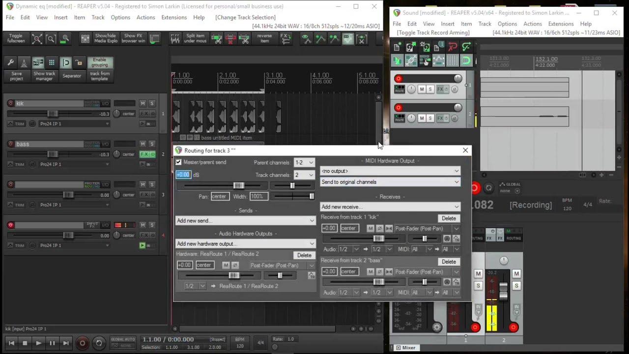 Reaper Tutorial-ReaRoute to Record Screencast Sound by Simon Larkin