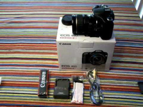 Canon EOS 40D open box w/28- 135mm IS lens kit