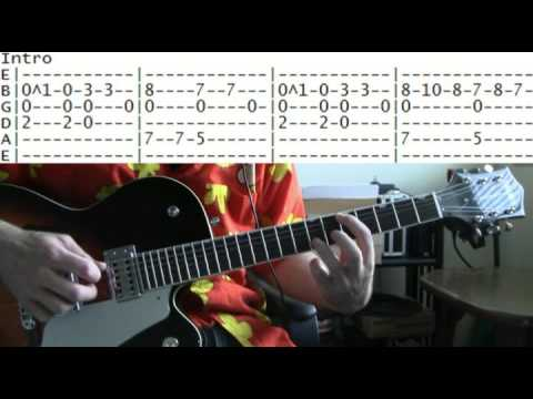 guitar lesson Tracy Chapman fast car tab - YouTube