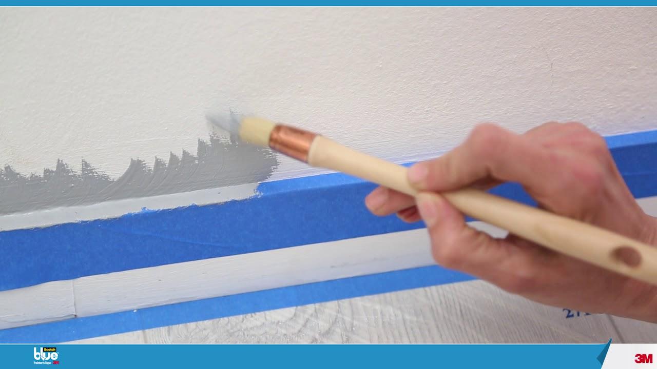 Utiliser Le Scotch Blue Pour Peindre Un Mur Youtube