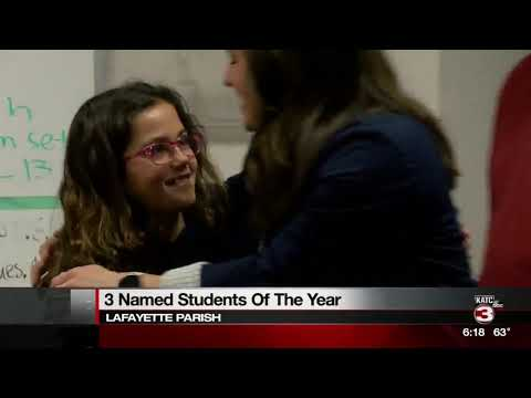 Three named students of the year in Lafayette Parish