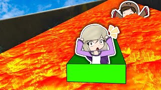 BOX RACE IN ROBLOX'S MOST DANGEROUS LAVA TOBOGON