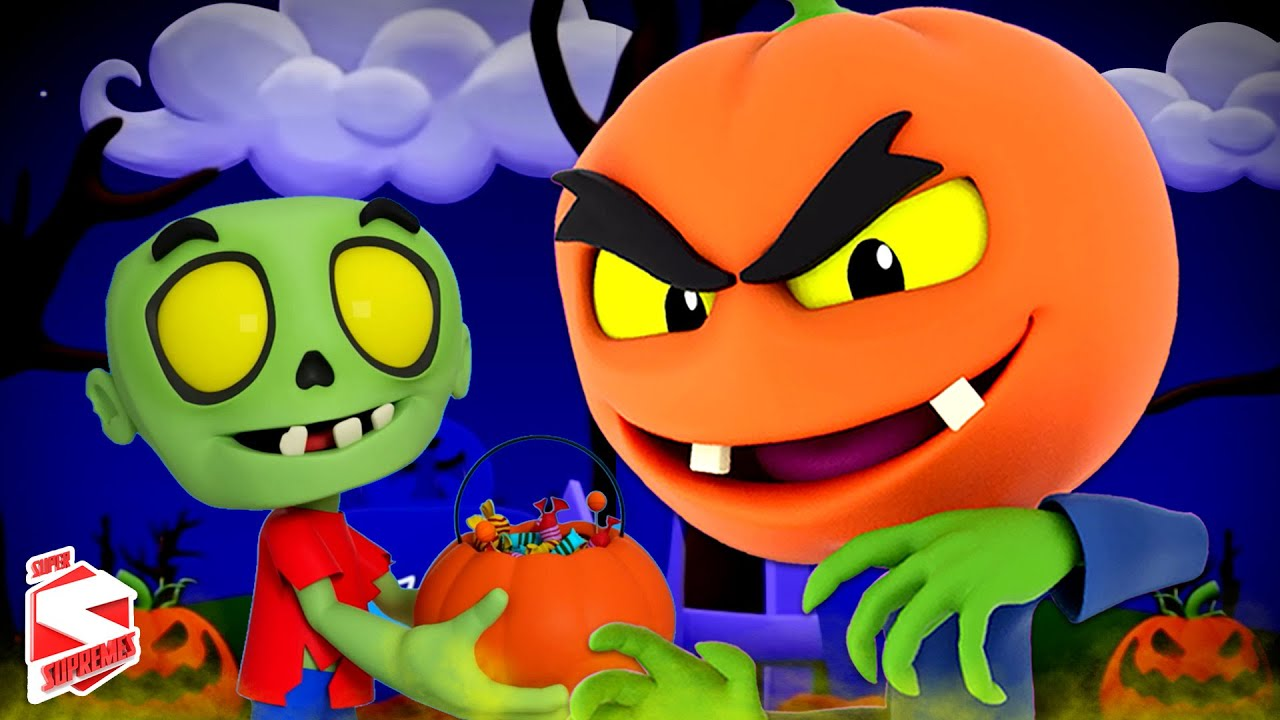 There's A Scary Pumpkin | Halloween Songs & Music for Children | Spooky Kids Cartoon | Kids Tv Song