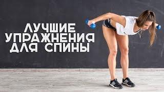 видео упражнения на спину с гантелями