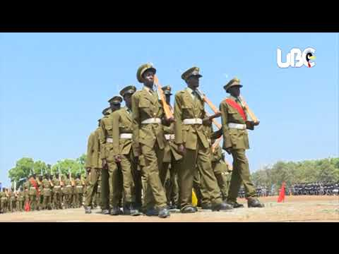 Full Match past by security forces on the 32nd #NRM Liberation Day 2018 in Arua