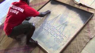 Sand Drawing: A Blackbirding Ship - Vanuatu Cultural Centre, Port Vila