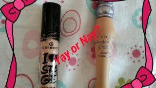 Essence I love stage Eye shadow base Vs Urban Decay primer potion