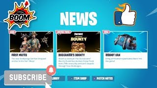 FORTNITE NEW DLC UPDATE BUCCANEER BOUNTY CHALLENGE & REBOOT VAN & PIRATE SKINS & FREE STUFF OUT NOW