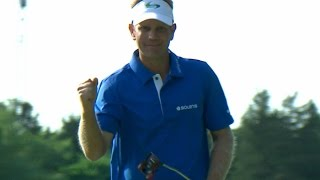 Billy Hurley III drops in a 27-footer at Quicken Loans