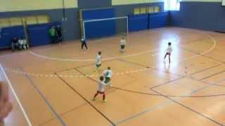 Turnier Eilenburg 14.12.2014 Gruppenspiel RB Leipzig - FC G/W Piesteritz F-Jugend Endstand 1:0