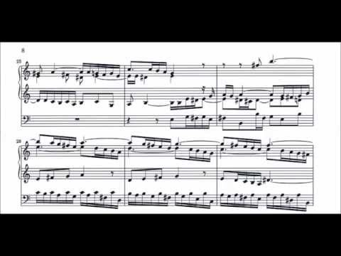 Bach - Prelude and Fugue in A minor, BWV 543 (Organ with sheet music) [Helmut Walcha]