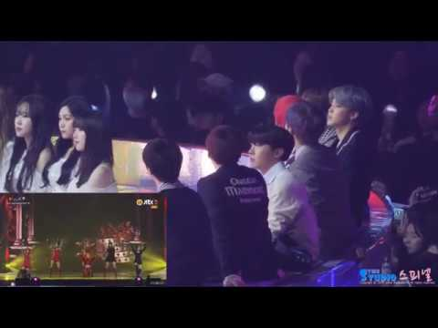BTS And Gfriend React APink I´m So Sick *MMA2018