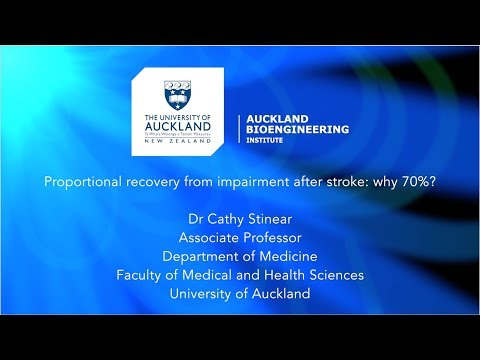 Proportional recovery from impairment after stroke:  why 70%