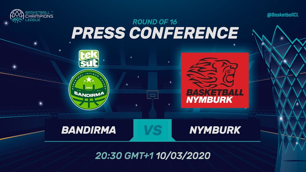 Teksüt Bandirma v ERA Nymburk - Press Conference - Round of 16 - Basketball Champions League 2019