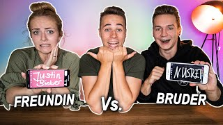 Girlfriend vs Brother - Who Knows More About Me ?!