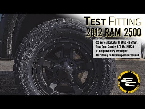 Test Fitting - 2012 Ram 2500 w/ 20