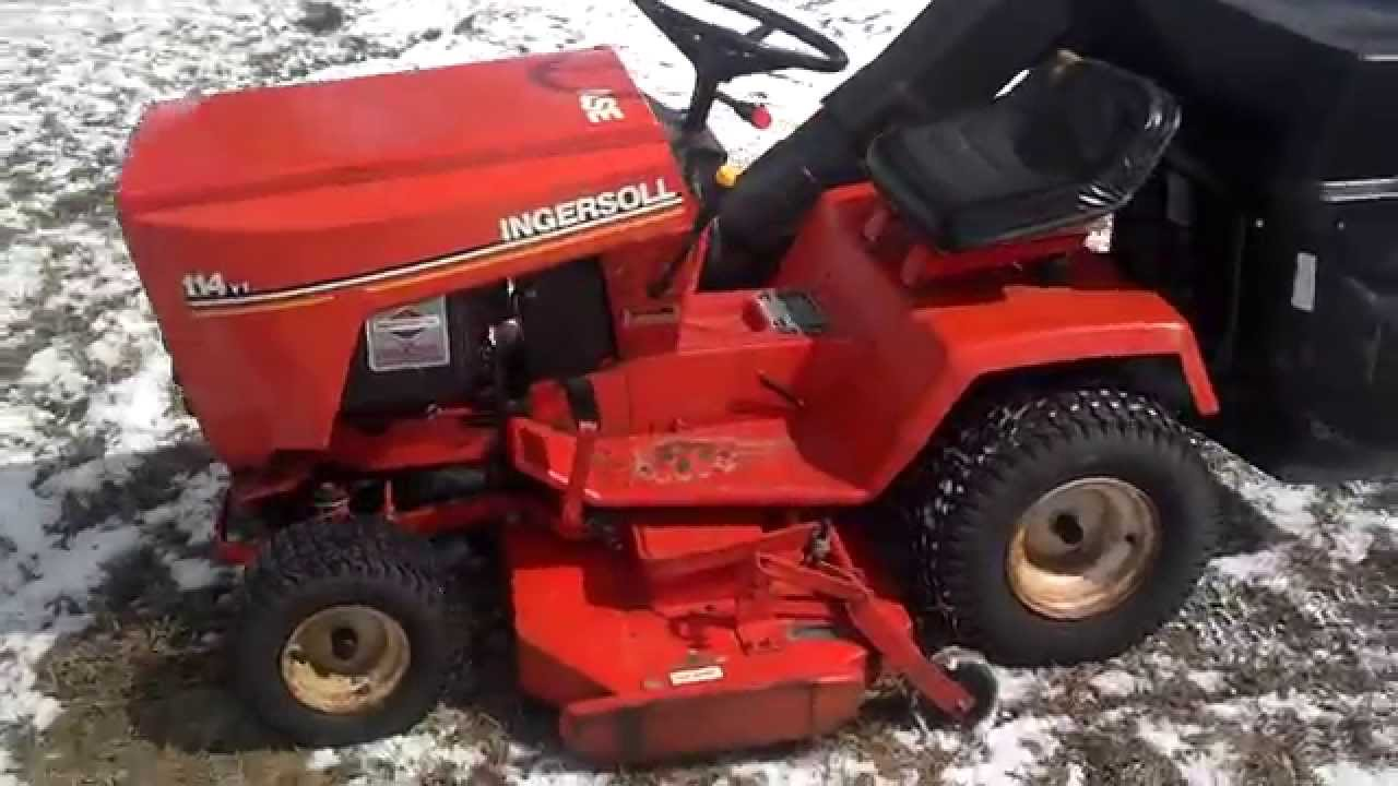 Case Ingersoll 114yt Lawn Mower 14hp Briggs With New