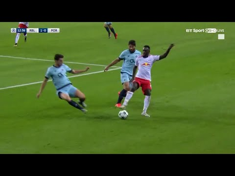 Incredible spin from Leipzig's Jean-Kévin Augustin in the Champions League