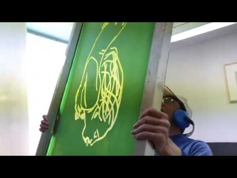 JEAN-PIERRE SERGENT AT WORK III PART 2: EXPOSING THE SILKSCREEN FRAMES