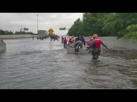 TX National Guard Rescues People In Houston From Flood