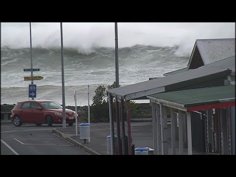 Huge seas from Cyclone Pam  East Cape  NZ