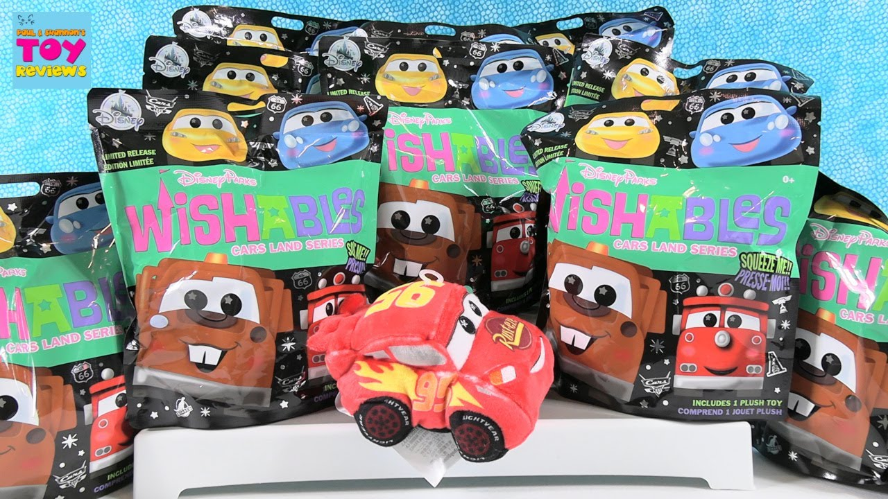 Disney Parks Wishables Cars Land Series Plush Blind Bag Opening | PSToyReviews