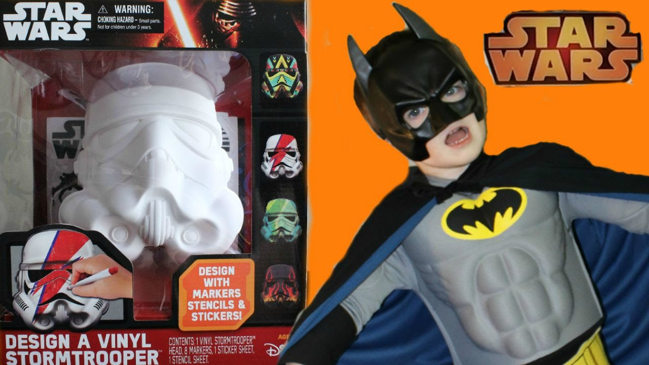 Star Wars Design A Stormtrooper Toy With Little Batman Youtube
