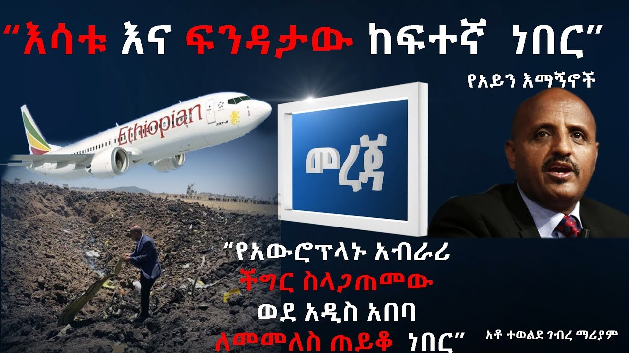 Details About The Crashed Ethiopian Plane