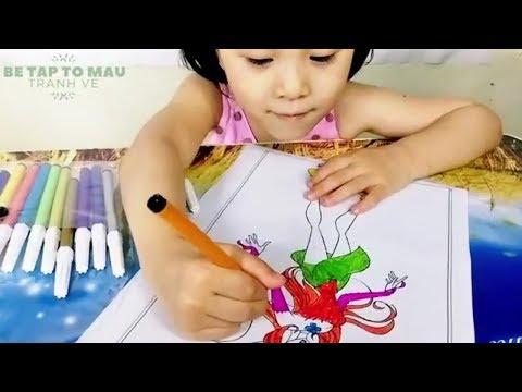 Bé Tô Màu Công Chúa  Winx  - Tranh Tô Màu Cho Bé Gái 3 Tuổi