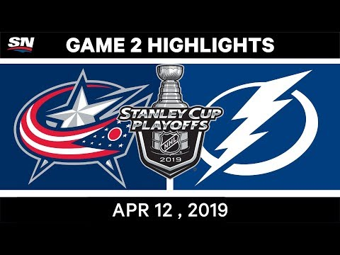 NHL Highlights | Columbus Blue Jackets vs Tampa Bay Lightning, Game 2 – Apr 12, 2019