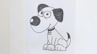 How to draw cartoon dog