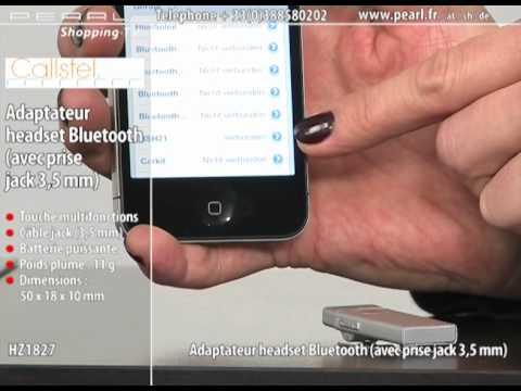 adaptateur micro casque bluetooth avec prise jack 3 5 mm youtube. Black Bedroom Furniture Sets. Home Design Ideas