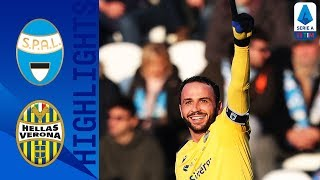 SPAL 0-2 Hellas Verona |  Pazzini and Stępiński score agains 10 man SPAL | Serie A TIM