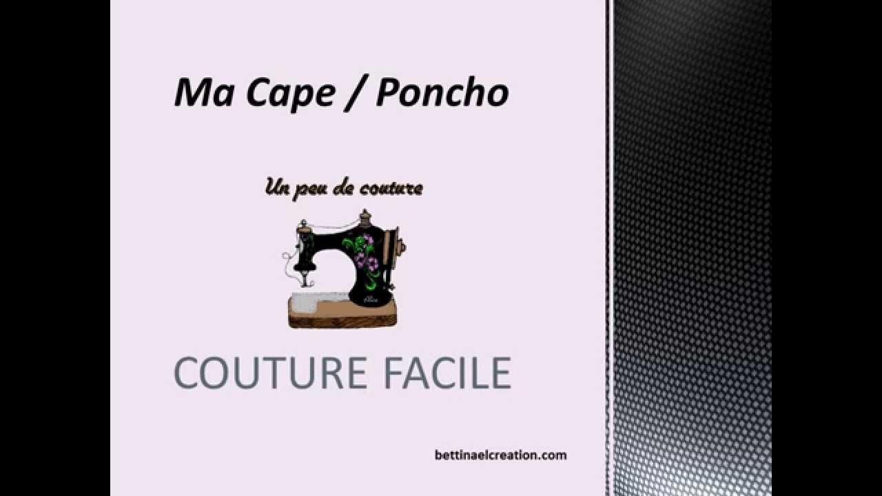 une cape poncho facile faire couture facile youtube. Black Bedroom Furniture Sets. Home Design Ideas